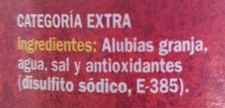 Alubia granja - Ingrediënten