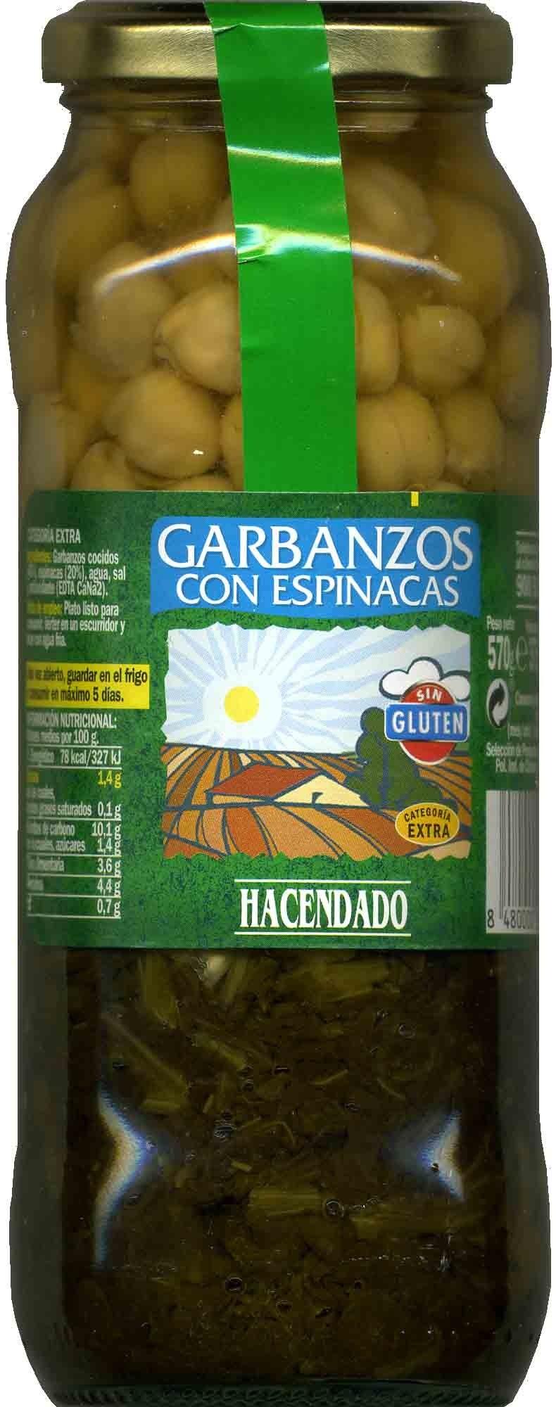 Garbanzos con espinacas - Producto - es