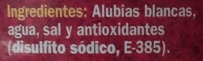 Alubia Blanca - Ingredientes - es