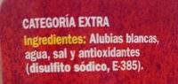 Alubia blanca - Ingredients - es