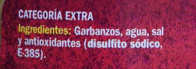 Garbanzos - Ingredienti - es