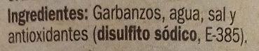 Garbanzo Pedrosillano - Ingredientes