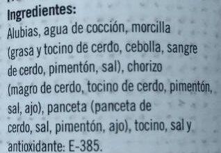 Fabada - Ingredientes