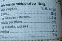 Fabada - Información nutricional