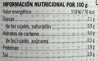 Garbanzos a la Jardinera - Nutrition facts