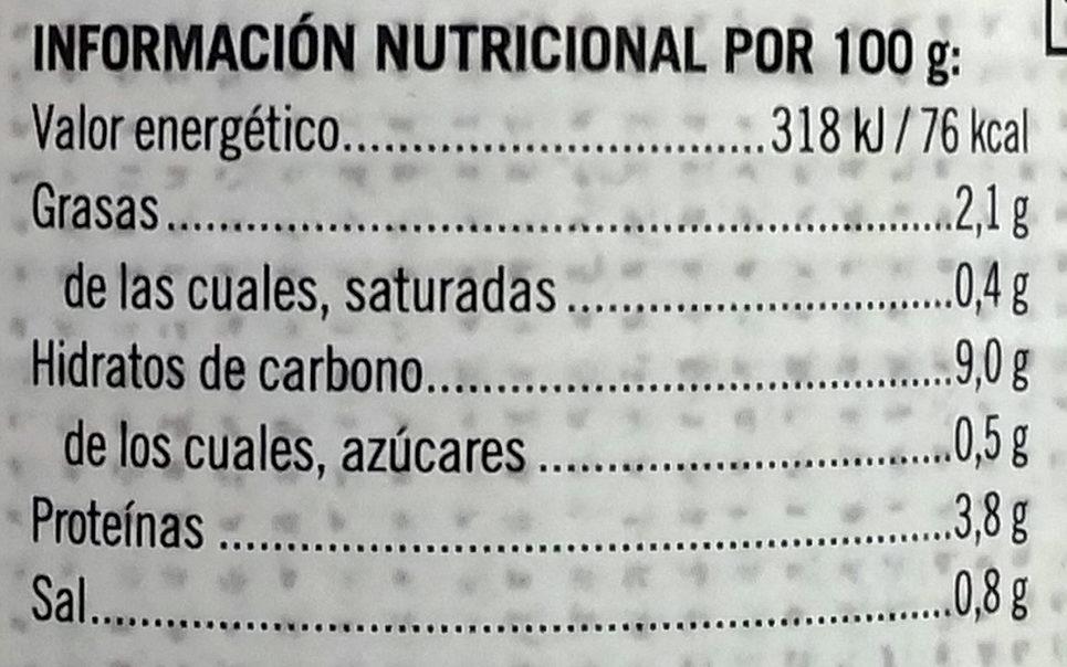 Garbanzos a la jardinera - Informations nutritionnelles - es