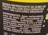 Limón light - Ingredientes