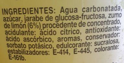 Limón con gas - Ingredients