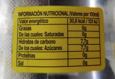 Limón con gas - Informació nutricional