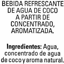Agua de coco - Ingredients - es