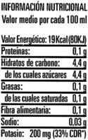 Agua de coco - Nutrition facts - es