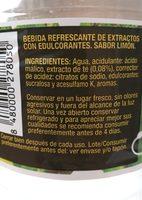 Té limón cero - Ingredientes