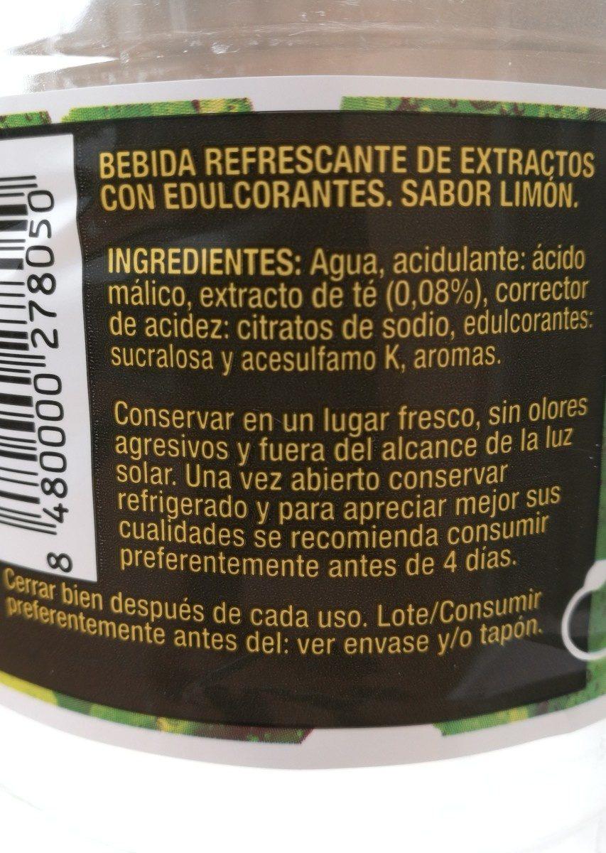 Té limón cero - Ingredientes - es