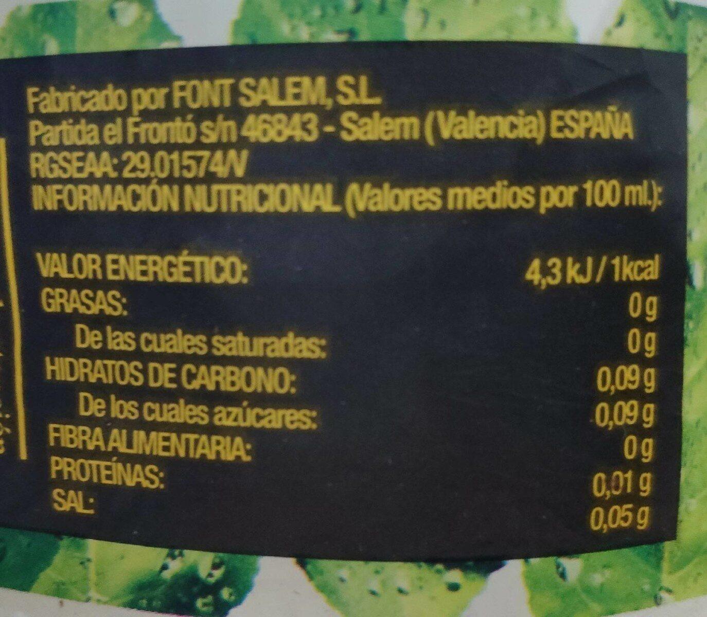 Té limón cero - Información nutricional - es