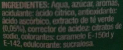 Te verde - Ingredients - es