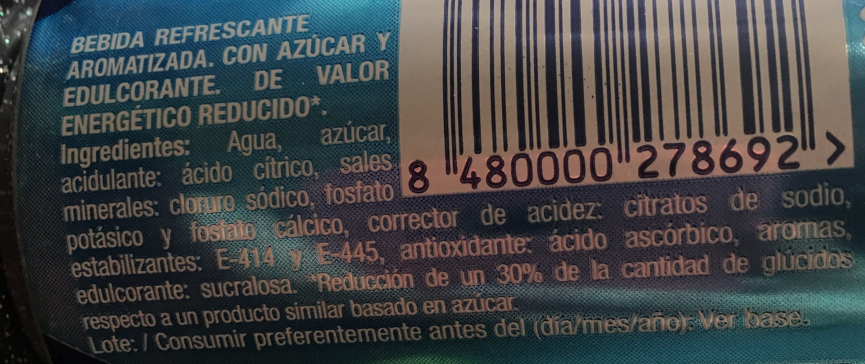 Bebida para deportistas sabor cítrico - Ingredients - es