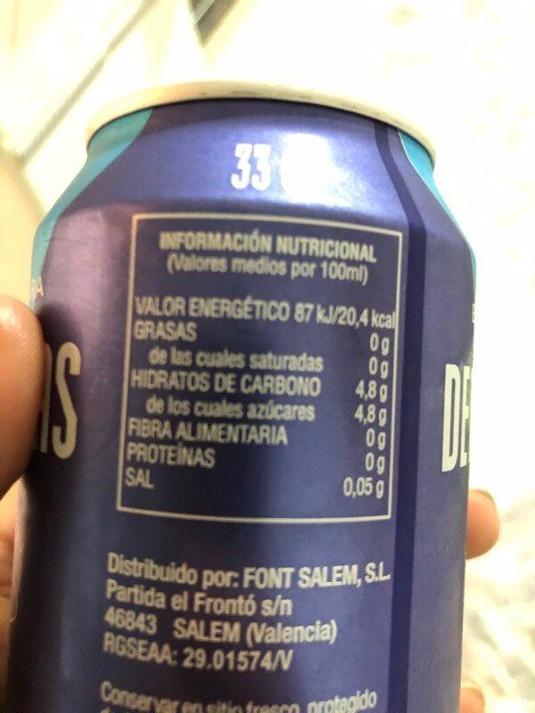 Bebida Para Deportistas Sabor Cítrico - Información nutricional