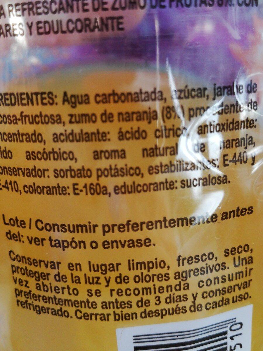 Naranja con gas - Ingredientes - es