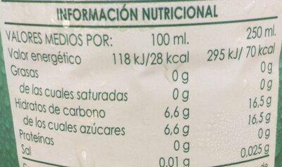 Refresco sin gas manzana - Nutrition facts - es