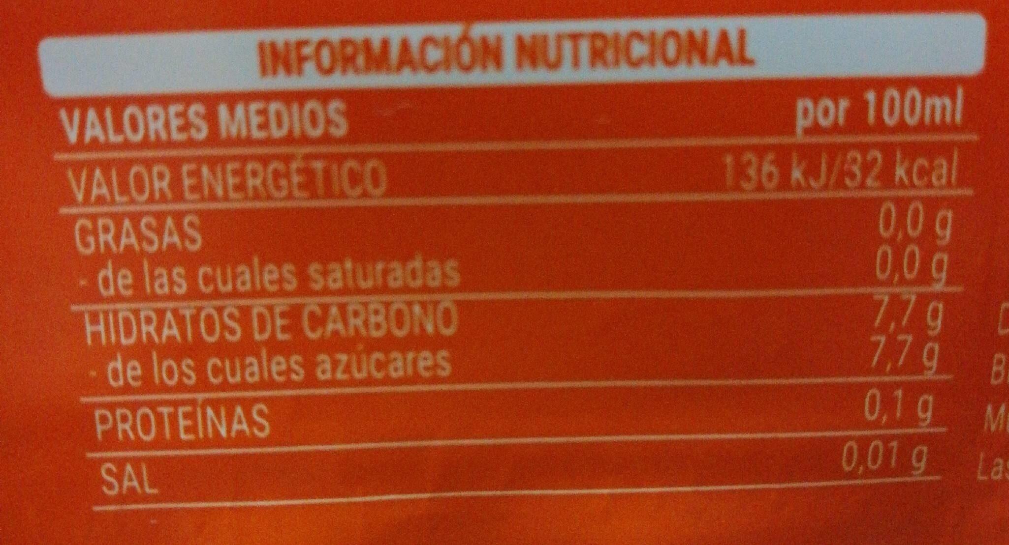 NARANJA FRESH GAS - Nutrition facts