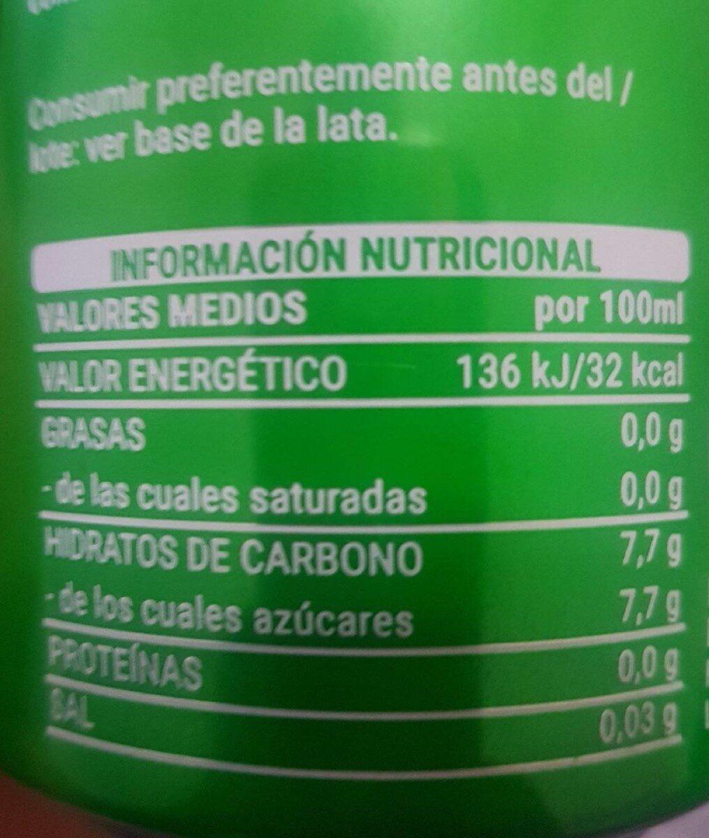 Fresh gas manzana - Información nutricional - es