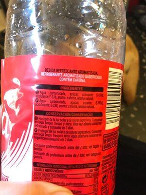 Cola - Ingredientes - es