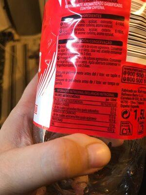 Cola - Información nutricional - es