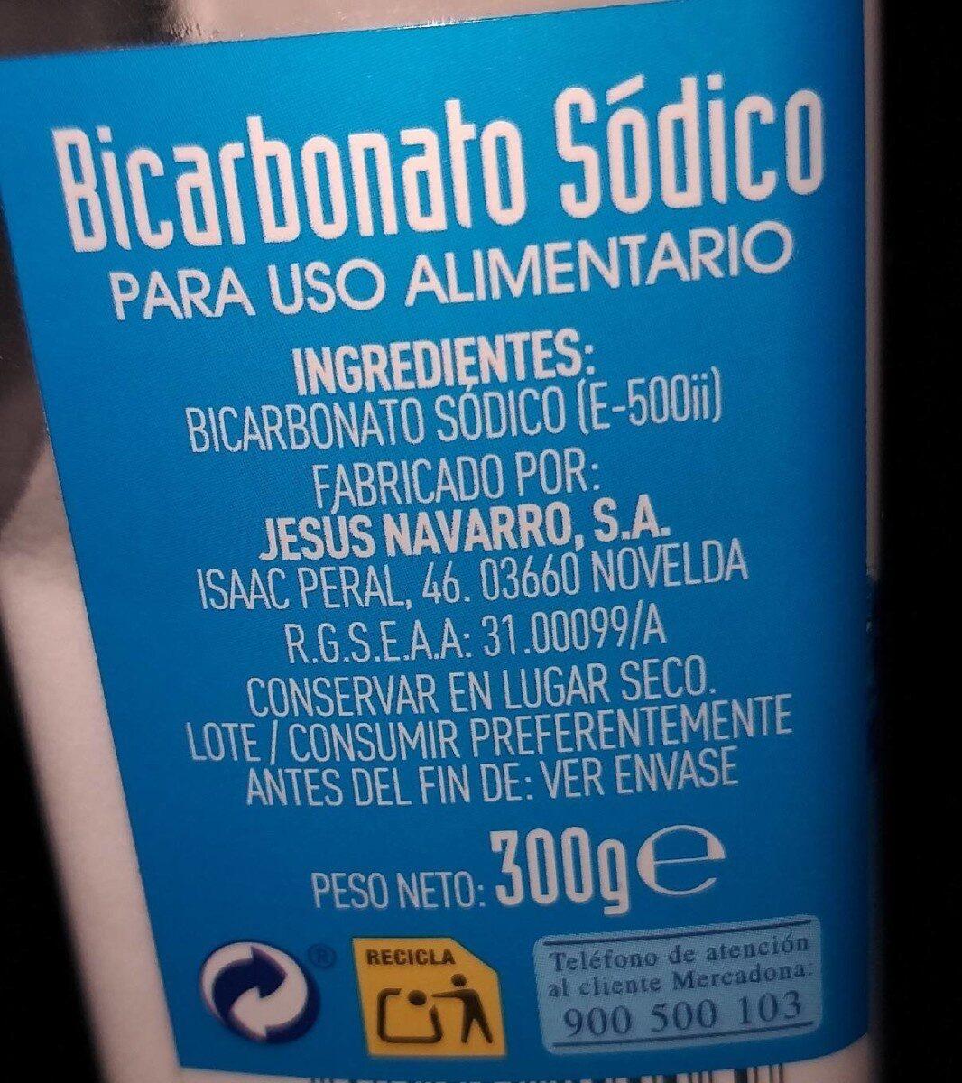 Bicarbonato sodico - Informations nutritionnelles - es