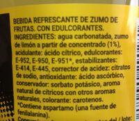 Fresh gas limon - Ingredientes