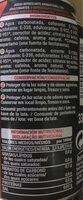 Cola Zero - Información nutricional - es