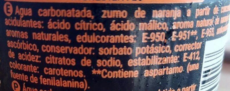 Fresh gas naranja zero - Ingredienti - es