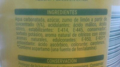 Limón fresh gas - Ingredientes - es