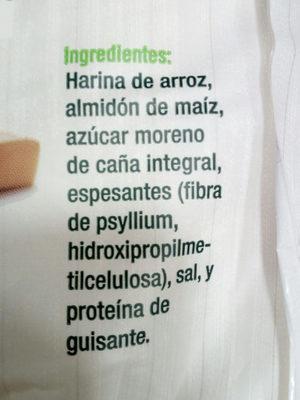 Preparado panificable Sin Gluten - Ingredientes