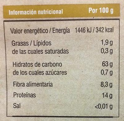Harina de trigo de espelta - Nutrition facts