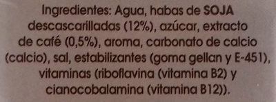 Bebida de Soja con extracto de Café - Ingredientes