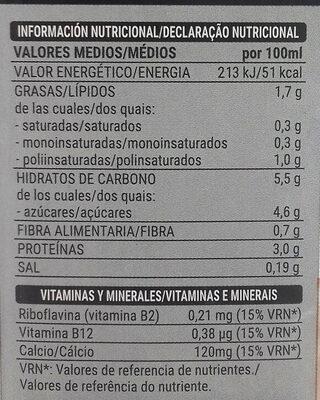 Bebida de Soja con extracto de Café - Informations nutritionnelles
