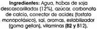 Bebida de soja calcio. Pack de 6 uds - Ingrediënten