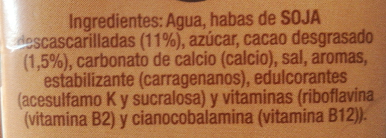 Bebida de Soja con chocolate - Ingredients - es