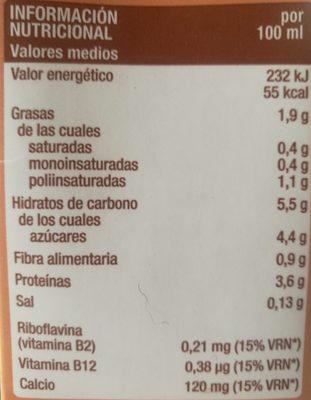 Bebida de soja y chocolate - Información nutricional - es