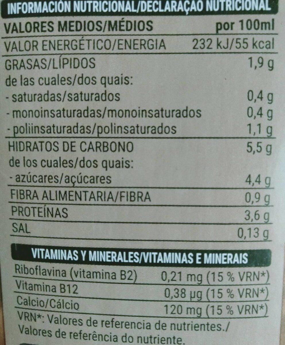 Bebida de Soja con chocolate - Nutrition facts - es