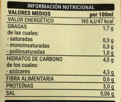Soja sabor vainilla - Informations nutritionnelles - es