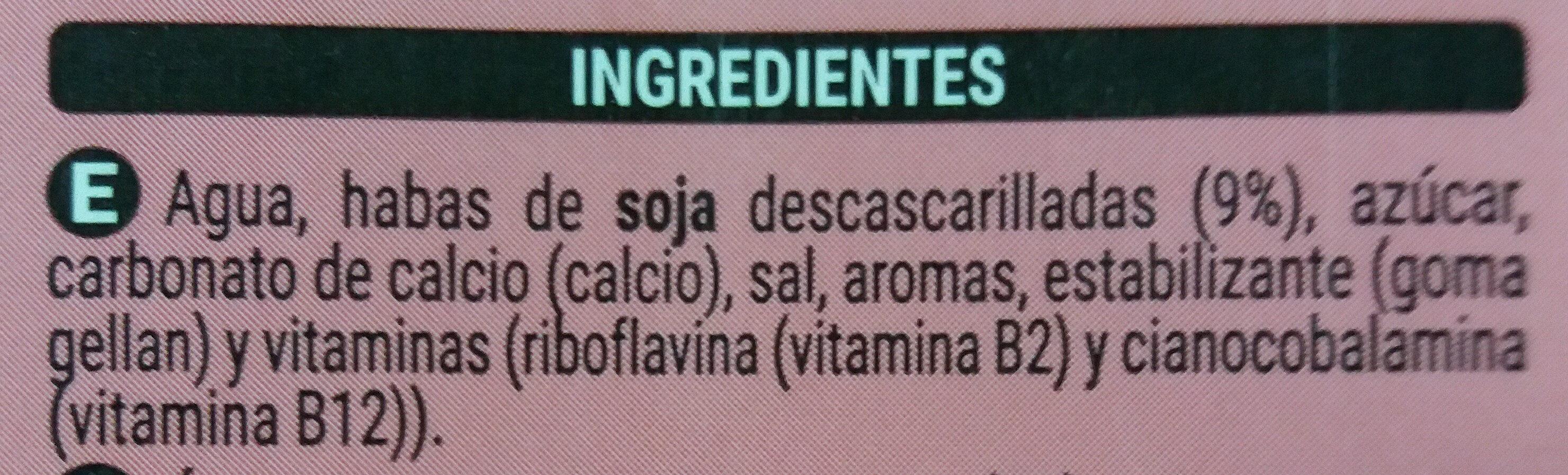Bebida de soja light 100% vegetal - Ingredients - es