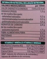 Bebida de soja - Voedigswaarden