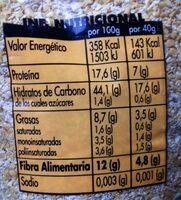 Salvado De Avena - Hacendado - 500 G - Información nutricional - es