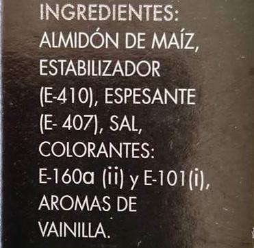Flan clásico - Ingredientes - es