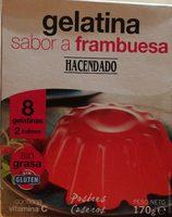 Gelatina sabor frambuesa - Produit - fr