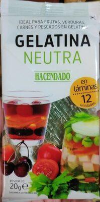 Gelatina neutra - Producto