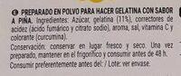 Galatina Piña - Ingredientes