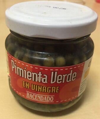 Pimienta verde en vinagre