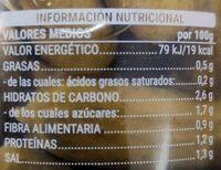 Mix pepinillos y cebollitas - Nutrition facts - es